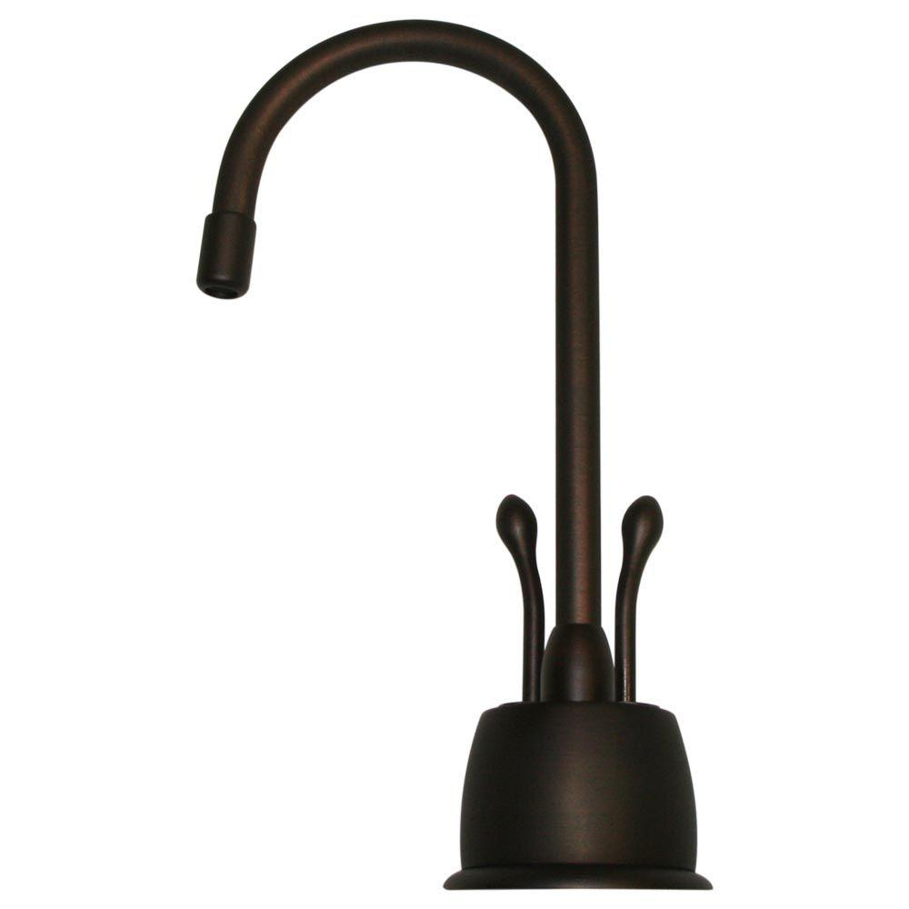 2-Handle Instant Hot/Cold Water Dispenser in Mahogany Bronze