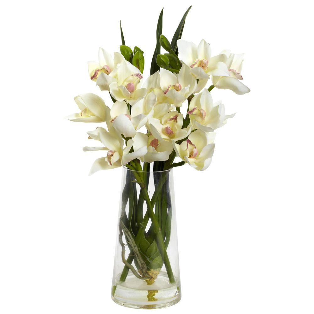 Cymbidium Orchid with Vase