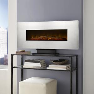 muskoka 42 in wall mount electric fireplace in zinc 310 42 45 the home depot