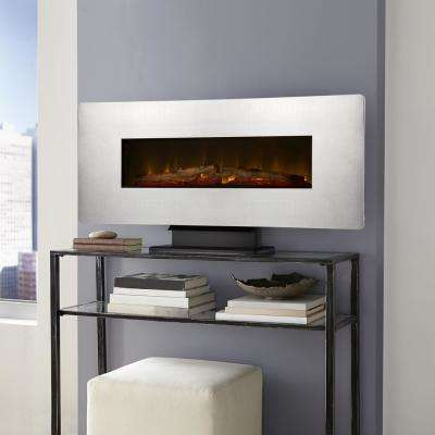 42 in. Wall-Mount Electric Fireplace in Zinc