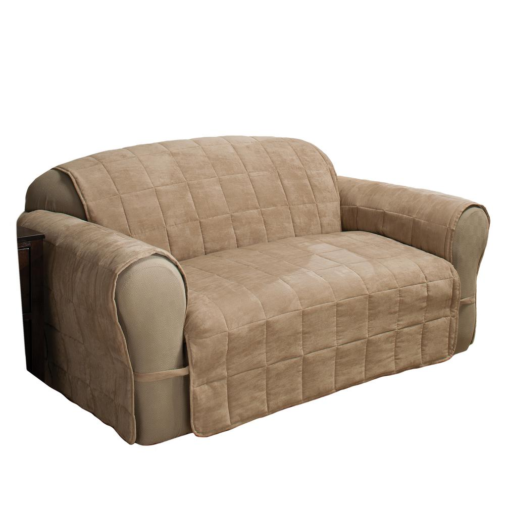 Camel Ultimate Faux Suede XL-Sofa Protector