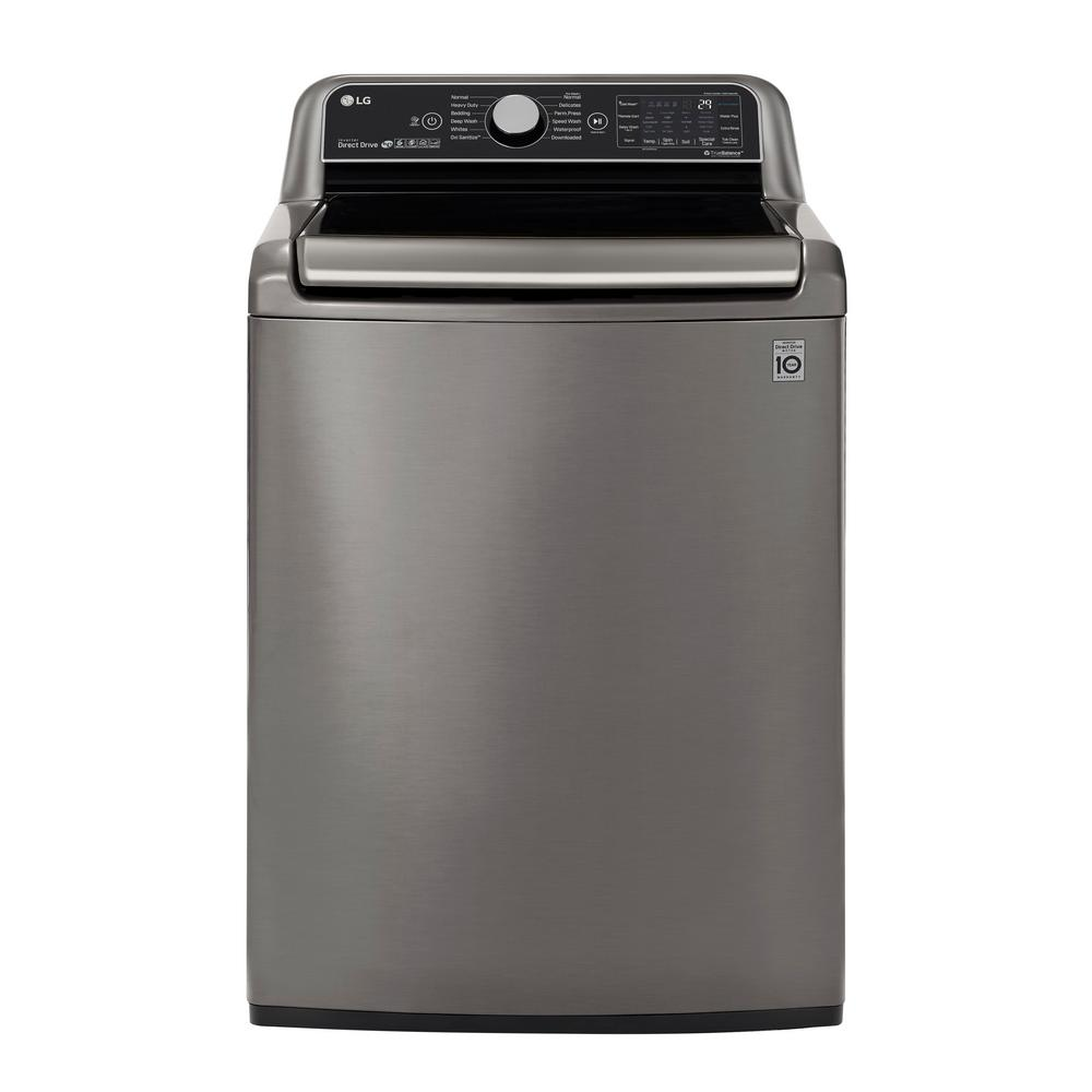 LG Electronics 5.5 cu. ft. High Efficiency Graphite Steel Top Load Washing Machine LG Electronics 5.5 cu. ft. High Efficiency Graphite Steel Top Load Washing Machine