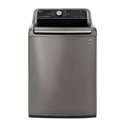 5.5 cu. ft. HE Mega Capacity Smart Top Load Washer with TurboWash3D & Wi-Fi Enabled in Graphite Steel, ENERGY STAR
