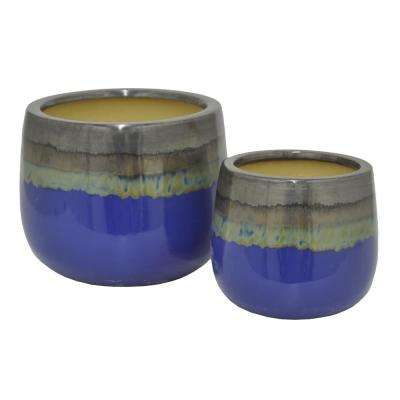 Glazed Ceramic Pots (Set of 2)