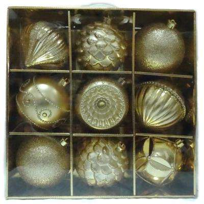 130 mm Ornaments Set in gold (9-Count)