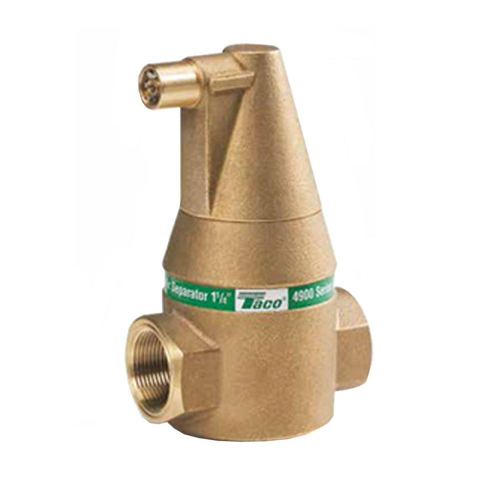 Taco 1-1/4 in. Air Separator Sweat Valve Connection