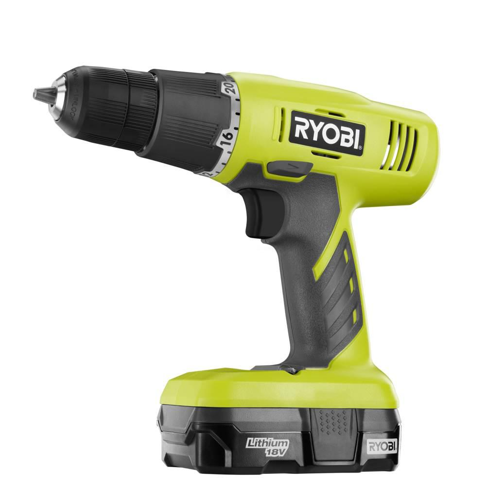 RYOBI 18-Volt ONE+ Lithium-Ion Cordless 3/8 in. Drill/Driver Kit with 1.3 Ah Battery and Charger