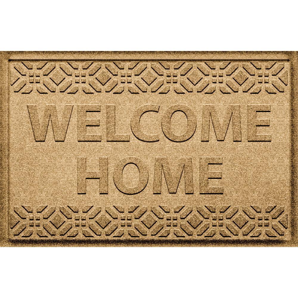Welcome Home Gold 24 in. x 36 in. Polypropylene Door Mat