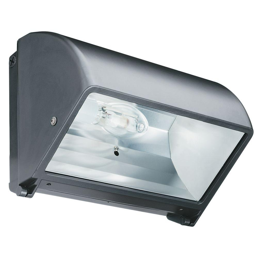 Lithonia Lighting Metal Halide Small Bronze Cut-Off Wall Pack with Glass Lens and Multi-Tap Ballast