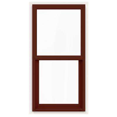 24 in. x 48 in. V-4500 Series Mesa Red Painted Single-Hung Vinyl Window with Fiberglass Mesh Screen