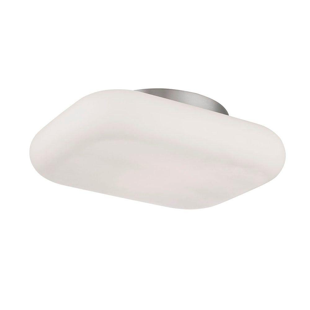Alma Collection 2-Light Satin Nickel LED Flushmount