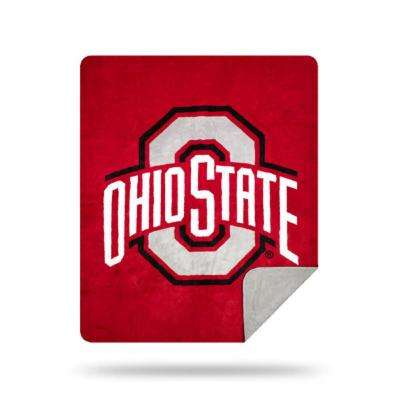 COL 361 Ohio State Multi Color Acrylic Sliver Knit Throw