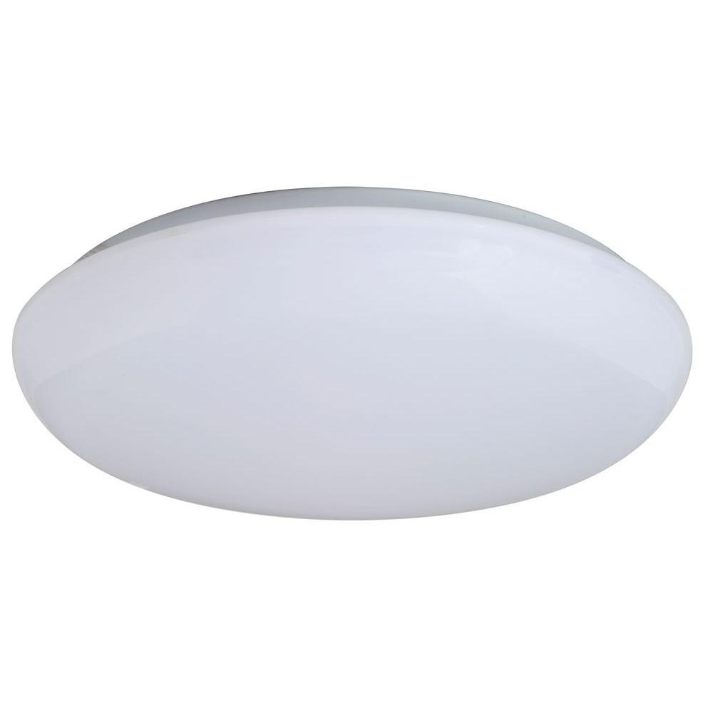 14 in. Warm White Mushroom Indoor LED Flush Mount