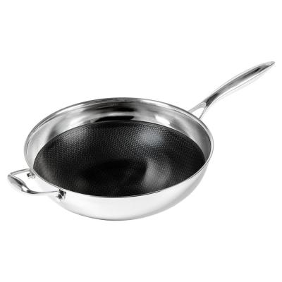 12.5 in. Non-Stick Wok in Stainless Steel