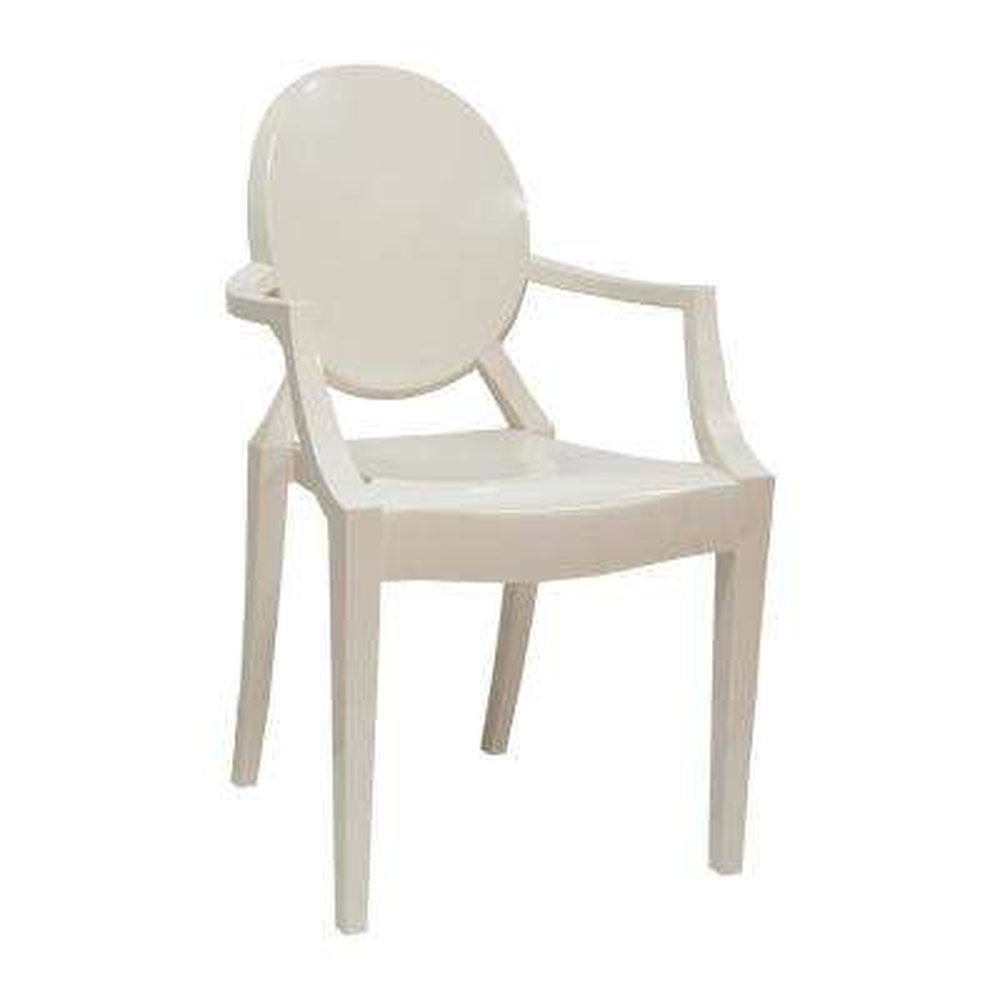 Louie White Arm Dining Chair