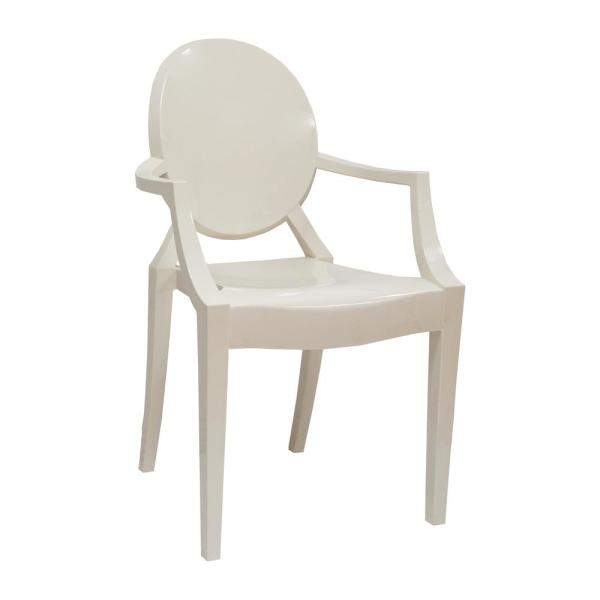 Incredible Louie White Arm Dining Chair Ibusinesslaw Wood Chair Design Ideas Ibusinesslaworg