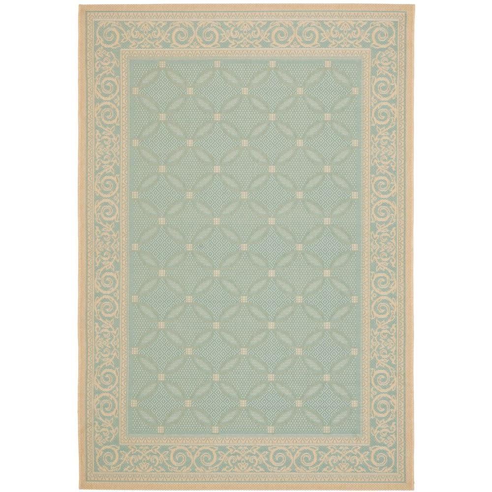 Safavieh Courtyard Aqua Cream 4 Ft X 5 Ft 7 In Indoor