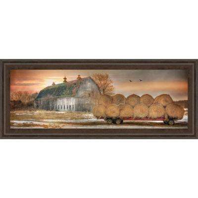 """18 in. x 42 in. """"Sunset on the Farm"""" by Lori Dieter Framed Printed Wall Art"""