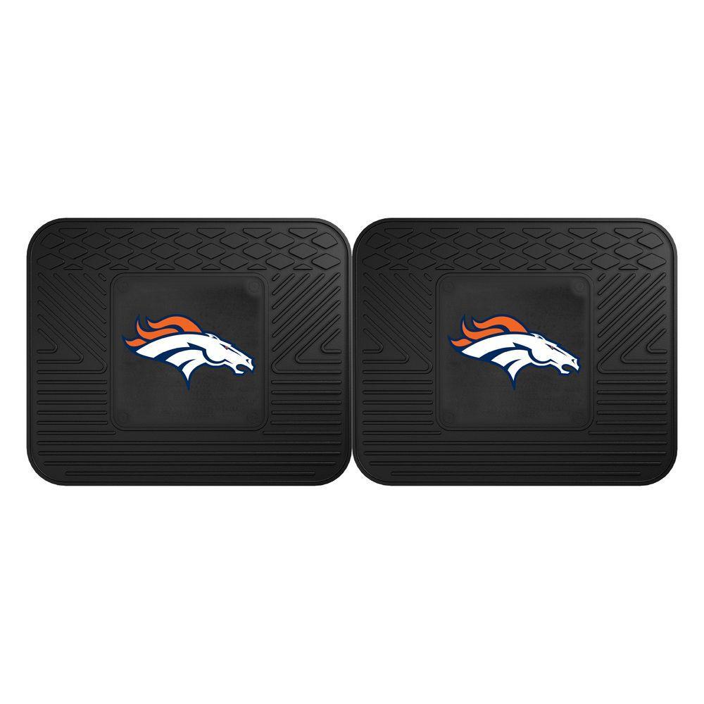 2 Piece Denver Broncos Utility Mat FANMATS 12312 NFL