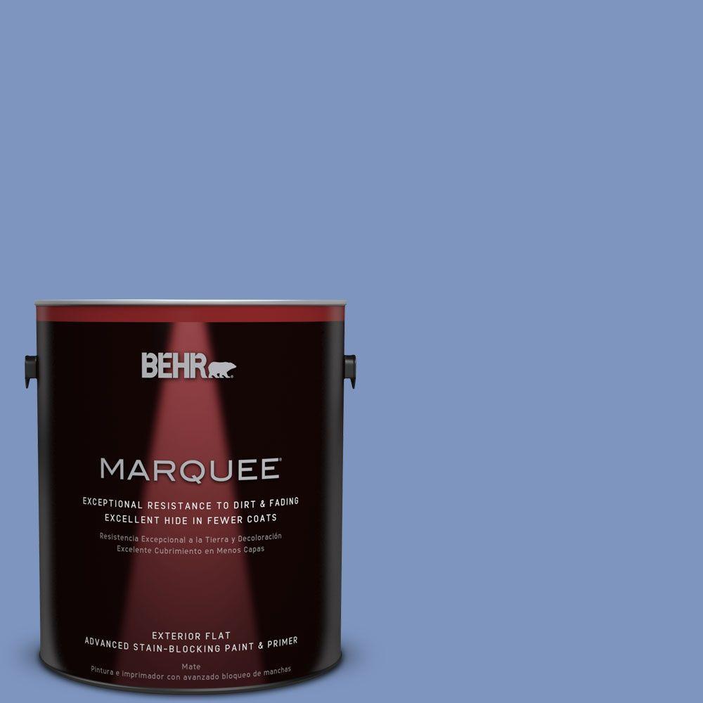 1-gal. #M540-5 Blue Satin Flat Exterior Paint
