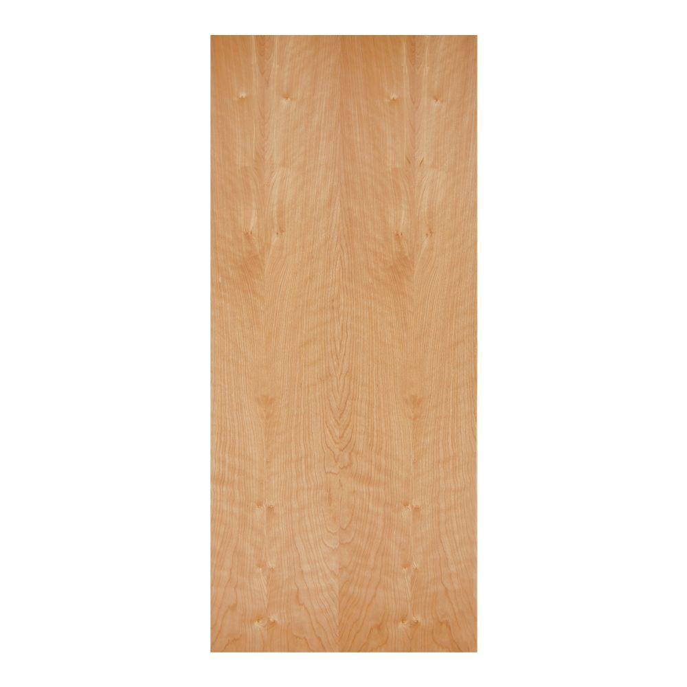30 in. x 80 in. Smooth Flush Hardwood Hollow Core Birch