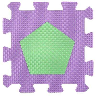 Multi-Colored 6.5 in. x 6.5 in. x 0.25 in. Interlocking EVA Foam Shapes Puzzle Floor Tile (56-Pack)