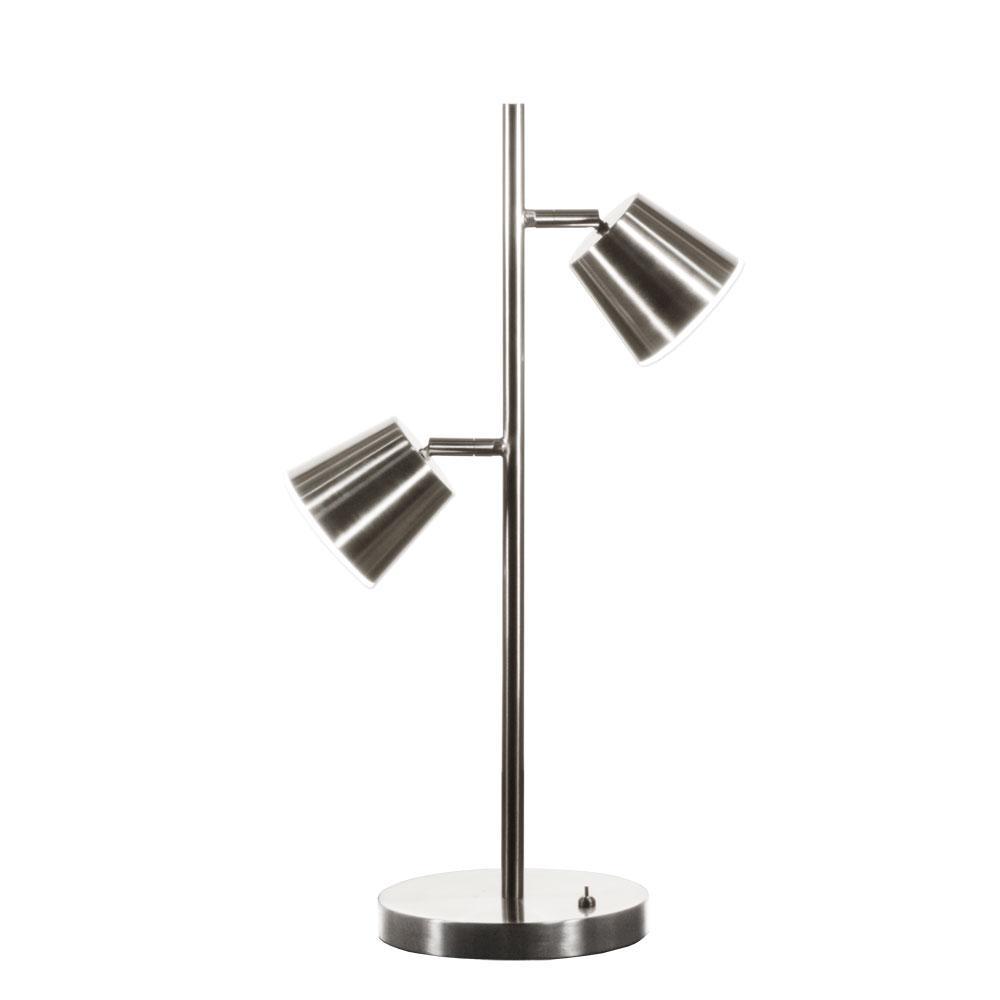 10-Watt 20.5 in. Satin Chrome LED Table Lamp