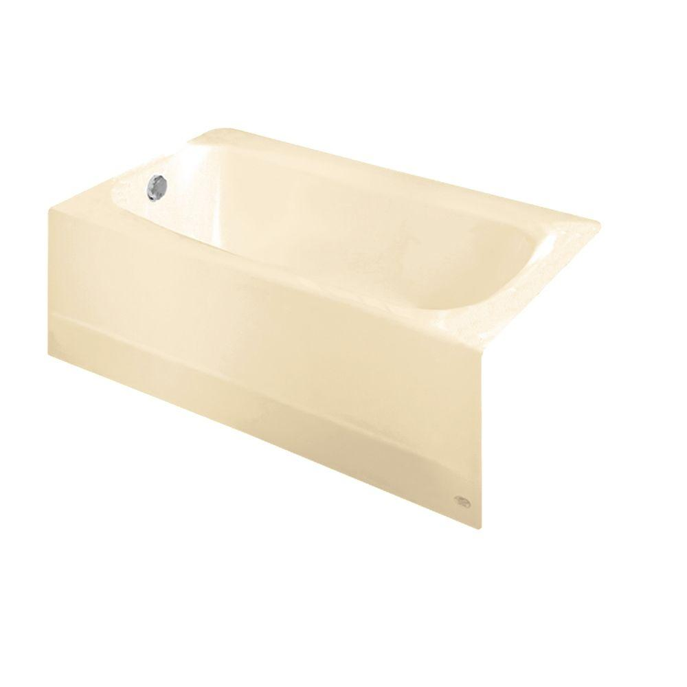 American Standard Cambridge 5 Ft. Americast Bathtub With Left Hand Drain In  Bone