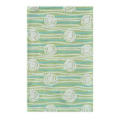Rosalita Green 3 ft. x 5 ft. Indoor Area Rug