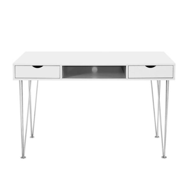 Walker Edison Furniture Company Grey Desk with Storage