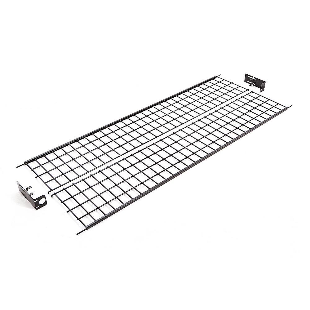 econoco 60 in  w x 1 in  h black wire shelf for rzk  8