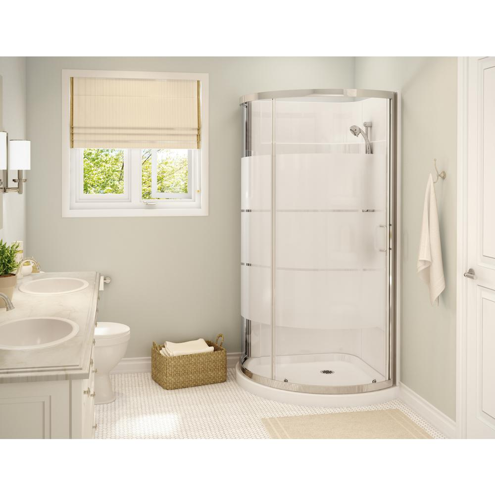 MAAX Cyrene 34 in.x 76 in. Off-Center Corner Shower Kit w/Semi ...
