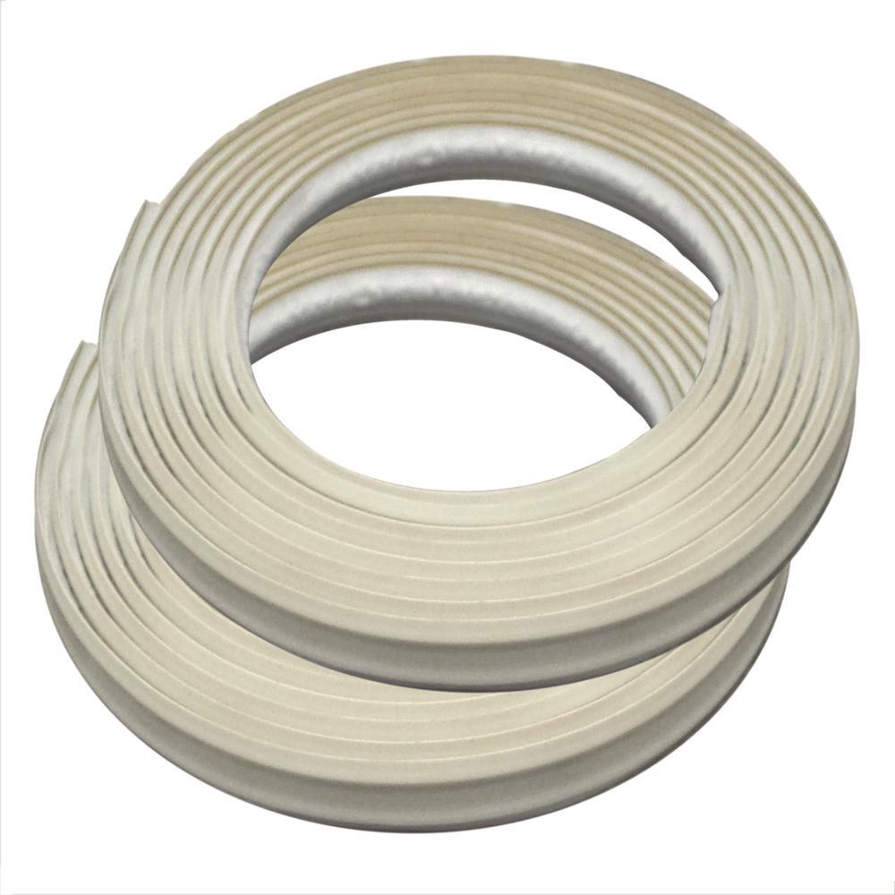 3/8 in. x 3/8 in. x 120 in. PVC Inside Corner Self-adhesive Flexible Trim Moulding (2-Pack)