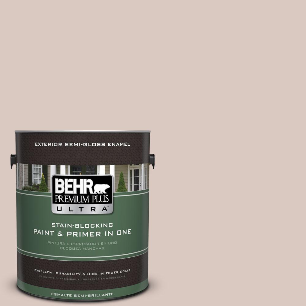 BEHR Premium Plus Ultra 1-gal. #PPU2-6 Wisp of Mauve Semi-Gloss Enamel Exterior Paint