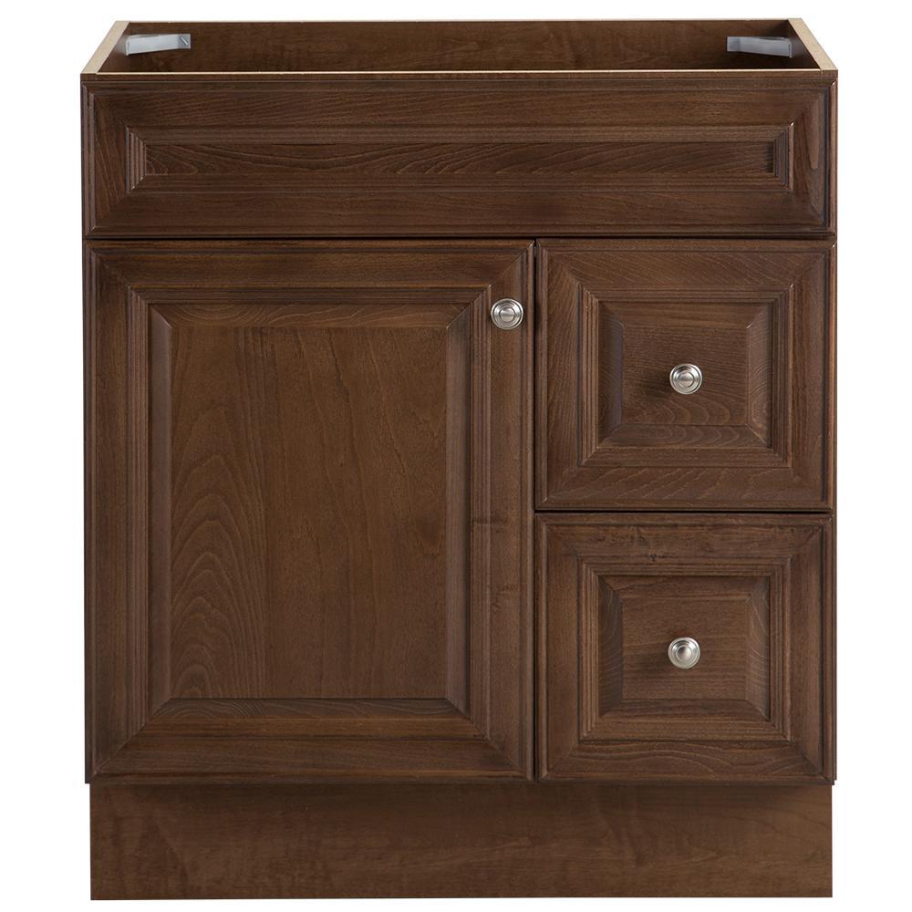 Glensford 30 in. W x 21.65 in. D Vanity Cabinet in Butterscotch