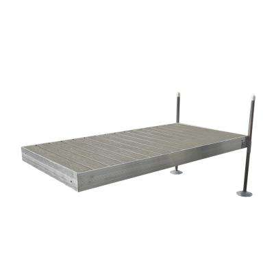 8 ft. Long Straight Aluminum Frame with Decking Complete Dock Package