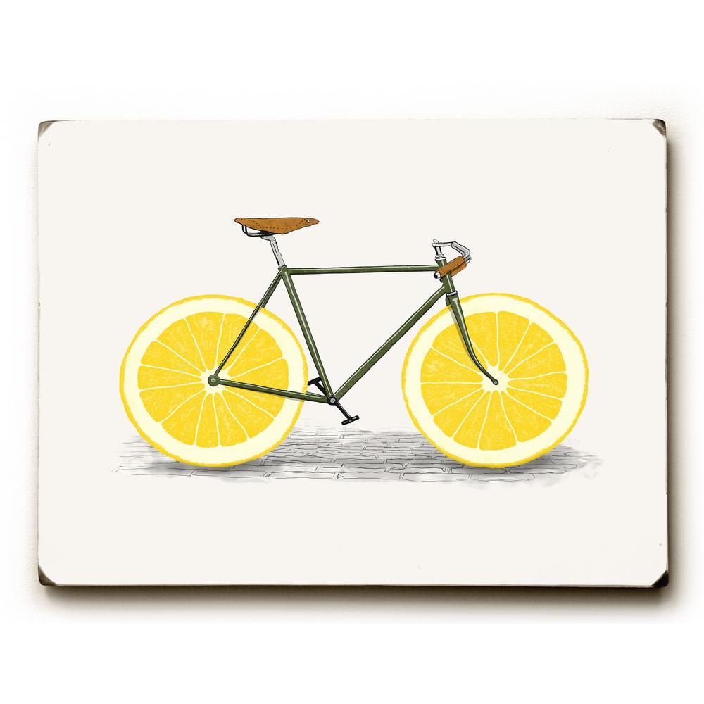 """9 in. x 12 in. """"Lemon Zest"""" by Florent Bodart """"Solid Wood"""" Wall Art"""