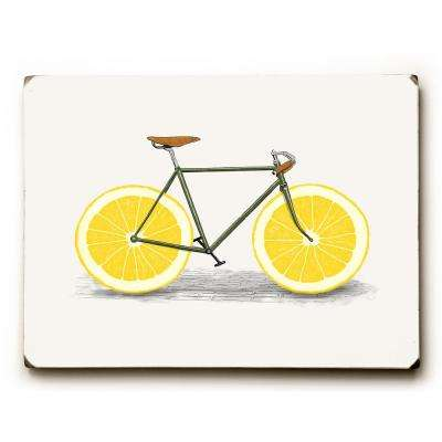 "9 in. x 12 in. ""Lemon Zest"" by Florent Bodart ""Solid Wood"" Wall Art"