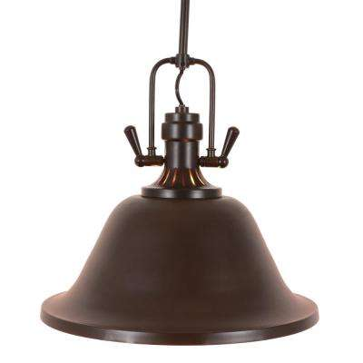 Cody Classic 17 in. 1-Light Brown Pendant