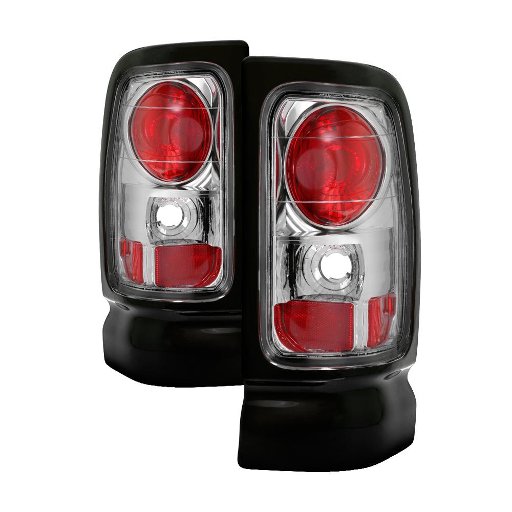 Dodge Ram 1500 94 01 2500 3500 02 Euro Style Tail Lights Chrome