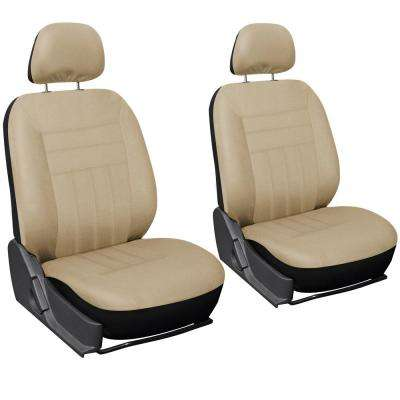 Polyester Seat Covers 26 in. L x 21 in. W x 48 in. H 6-Piece Seat Cover Set Solid Beige