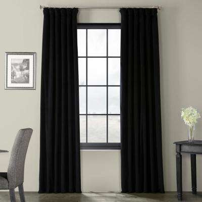 Blackout Signature Warm Black Blackout Velvet Curtain - 50 in. W x 84 in. L (1 Panel)