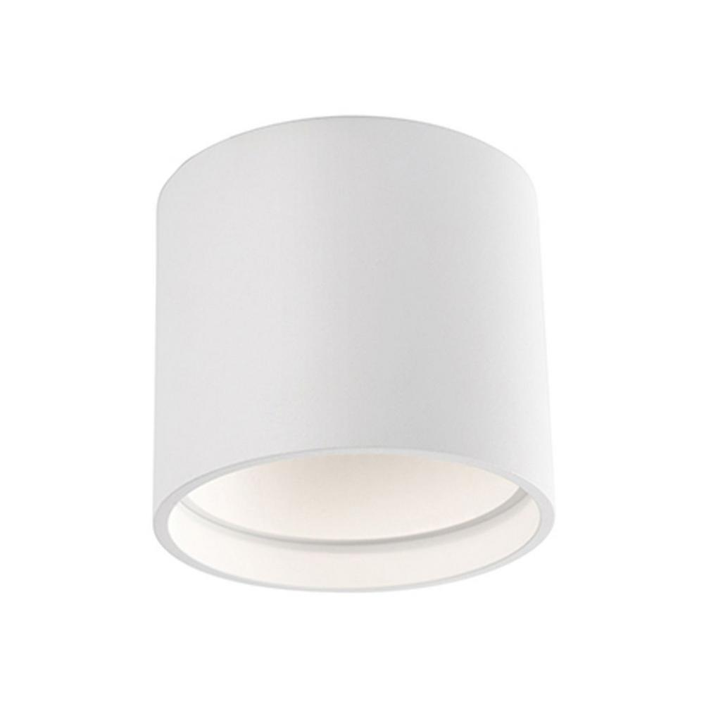 Heather 60-Watt Equivalence White Integrated LED Ceiling Flushmount