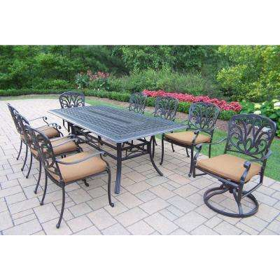 Hampton 9-Piece Patio Dining Set with Sunbrella Cushions