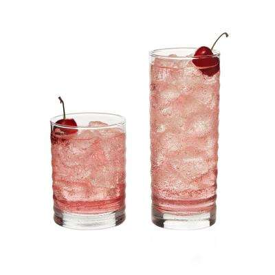Pueblo 16-Piece Clear Glass Drinkware Set