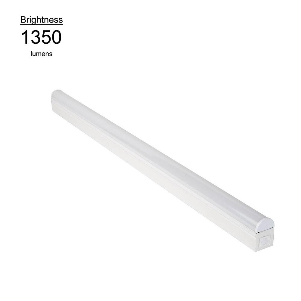 Commercial Electric 3 ft. Bright and Cool White LED Linkable Strip Ceiling Light Fixture with Plug In or Direct Wire Power Connection