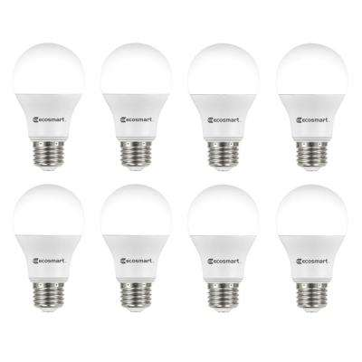 60-Watt Equivalent A19 Non-Dimmable LED Light Bulb Cool White (8-Pack)