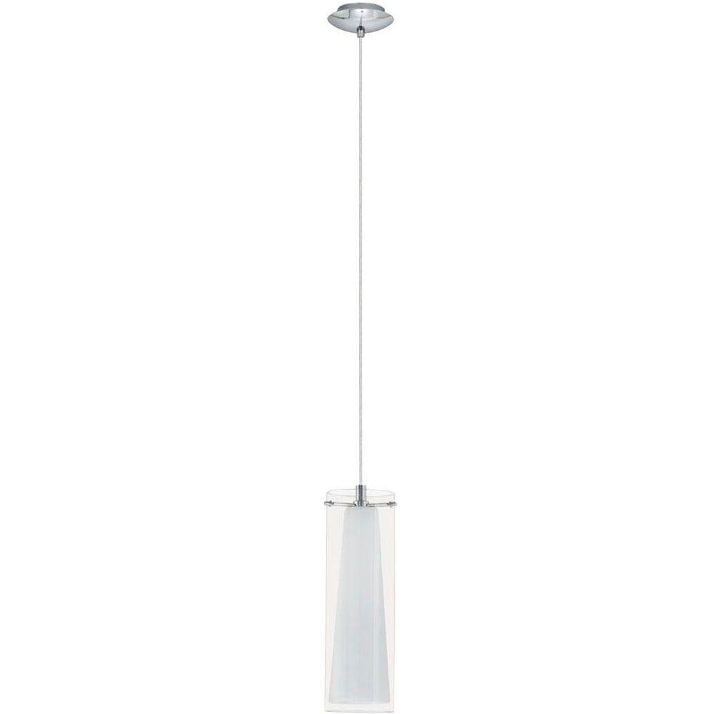 Eglo pinto 1 light chrome hanging mini pendant 20509a the home depot eglo pinto 1 light chrome hanging mini pendant mozeypictures Images