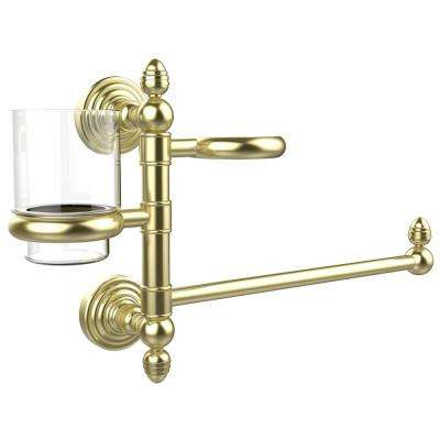Waverly Place Collection Hair Dryer Holder and Organizer in Satin Brass