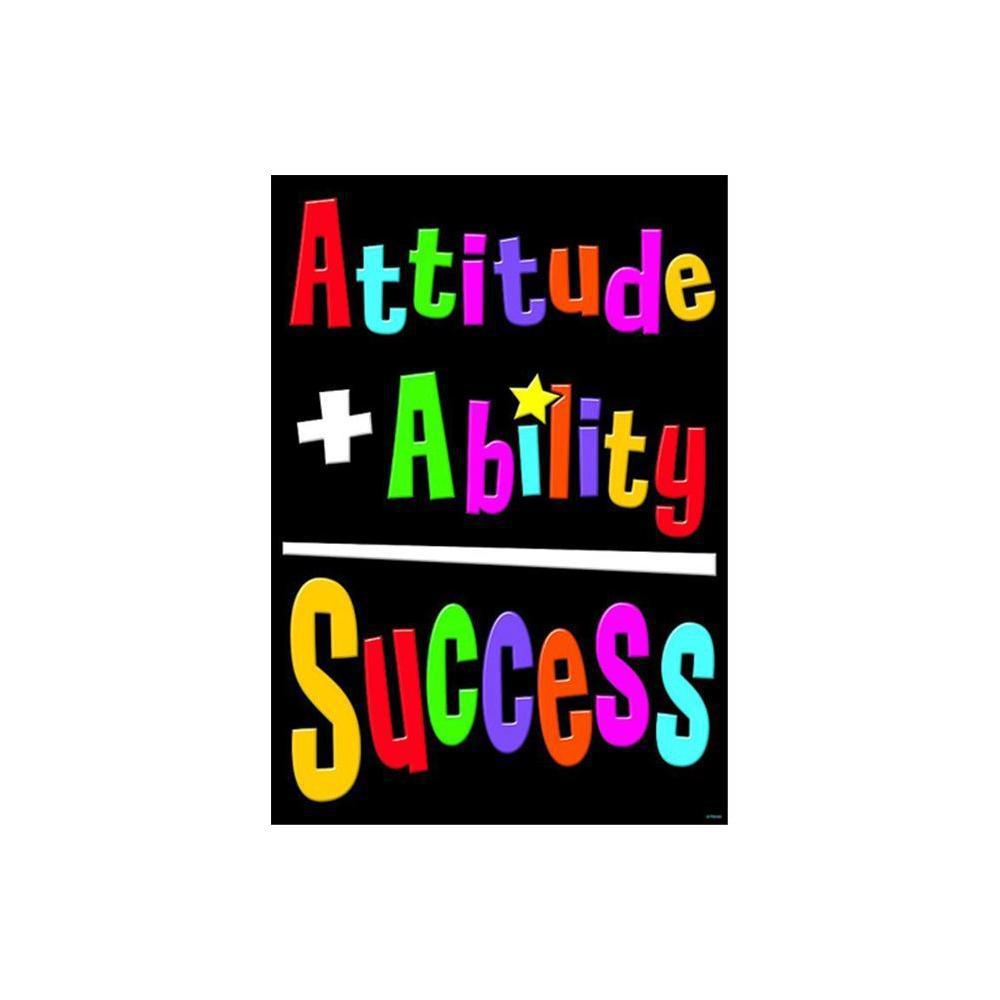 Attitude plus Ability equal Success Poster